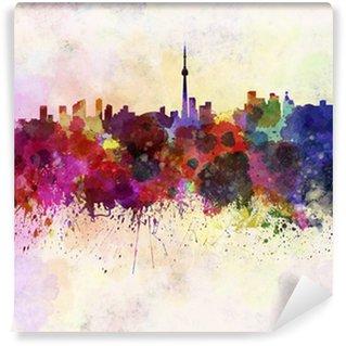 Vinylová Fototapeta Toronto panorama v akvarelu pozadí