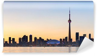 Vinylová Fototapeta Toronto silueta krajiny