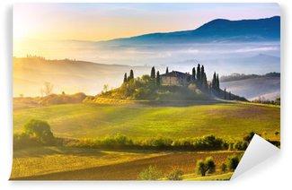 Fototapeta Winylowa Toskania o wschodzie słońca