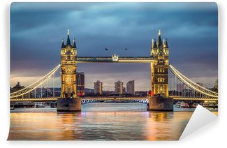 Vinylová Fototapeta Tower bridge západ slunce