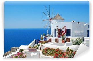 Vinylová Fototapeta Tradiční architektura Oia vesnice na ostrově Santorini v G