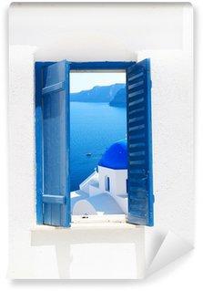 Vinylová Fototapeta Tradiční architektura vsi Oia vesnice na ostrově Santorini, Gre