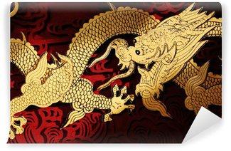 Vinylová Fototapeta Tradiční čínská drakem natírání
