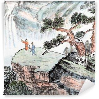 Vinylová Fototapeta Tradiční čínská malba, krajina