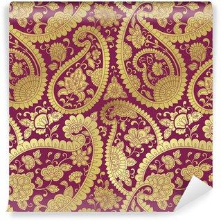 Vinylová Fototapeta Tradiční paisley květinovým vzorem, textil, Rajasthan, Indie