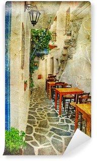 Vinylová Fototapeta Tradiční řecké taverny. umělecký obraz