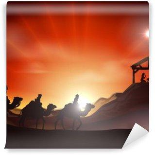 Vinylová Fototapeta Tradiční vánoční betlém