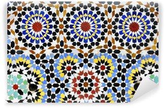 Fototapeta Winylowa Tradycyjne mozaiki lub zellij na fontannie Moulay Idriss