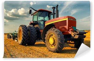 Vinylová Fototapeta Traktor na oblasti zemědělství