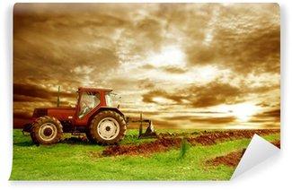 Vinylová Fototapeta Traktor