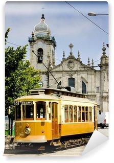 Vinylová Fototapeta Tramvaj před Carmo Church, Porto, Portugalsko
