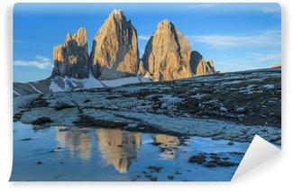 Vinylová Fototapeta Tre Cime při východu slunce, Dolomit Alpy, Itálie