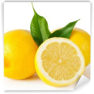 Vinylová Fototapeta Tři citrony s listy