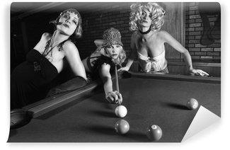 Vinylová Fototapeta Tři retro samice fotografování bazén.