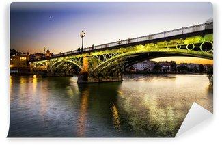 Vinylová Fototapeta Triana most přes řeku Guadalquivir, Sevilla, Španělsko.