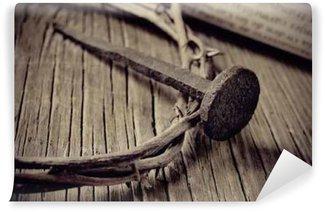Vinylová Fototapeta Trnové koruny Ježíše Krista a hřebík na svatého Kříže