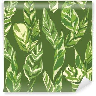 Vinylová Fototapeta Tropical Leaves Background - Vintage bezešvé vzor