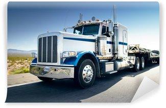 Vinylová Fototapeta Truck a dálnice na den - doprava pozadí