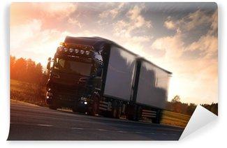 Vinylová Fototapeta Truck na dálnici zemi