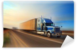 Vinylová Fototapeta Truck na dálnici