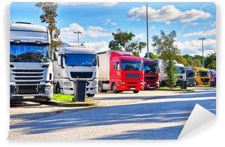 Vinylová Fototapeta Truck na parkovišti