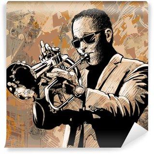 Vinylová Fototapeta Trumpetista