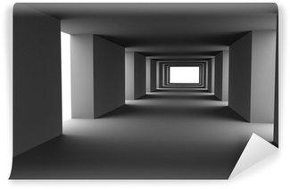 Vinylová Fototapeta Tunel s měnícími se světlými a tmavými pruhy. Hi-res 3d.