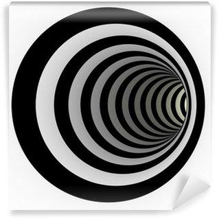 Vinylová Fototapeta Tunel z černých a bílých čar