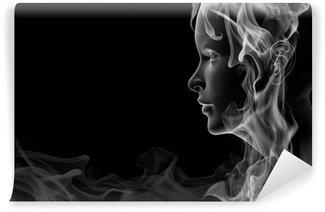 Fototapeta Winylowa Twarz wykonana z dymem