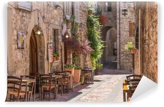 Vinylová Fototapeta Typická italská restaurace v historické uličce