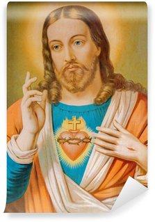 Vinylová Fototapeta Typické katolický obraz srdce Ježíše Krista ze Slovenska