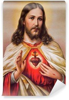 Vinylová Fototapeta Typický katolický obraz srdce Ježíše Krista