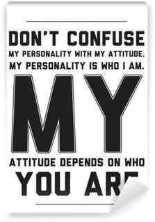 Vinylová Fototapeta Typografie motivační plakát s citátem na bílém pozadí