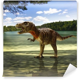 Vinylová Fototapeta Tyrannosaurus hledá jídlo