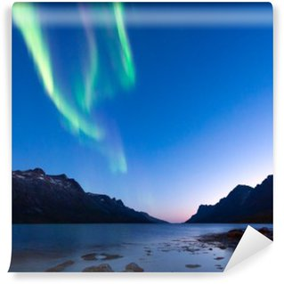 Vinylová Fototapeta Tyto polární záře v Norsku, Tromso, Ersfjord