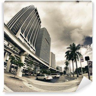 Vinylová Fototapeta Ulic a budov ve městě Miami