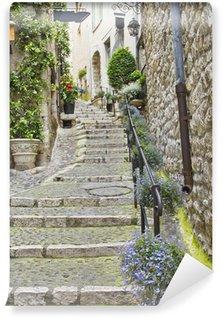 Fototapeta Winylowa Ulica w średniowiecznym mieście Saint Paul de Vence, Francja