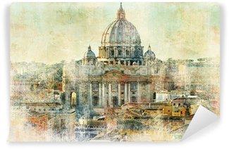 Vinylová Fototapeta Ulice Pietro, Vatican - kresby v malba