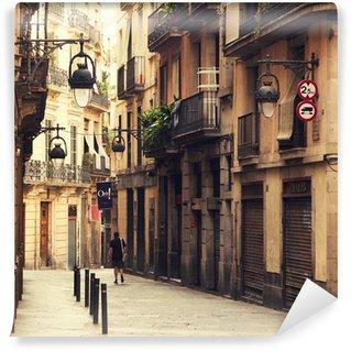 Vinylová Fototapeta Ulice v gotické čtvrti v Barceloně.