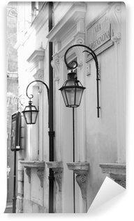Vinylová Fototapeta Ulice v Římě s lucernami