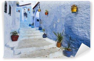 Vinylová Fototapeta Ulici v Medina z modré města Chefchaouen, Maroko