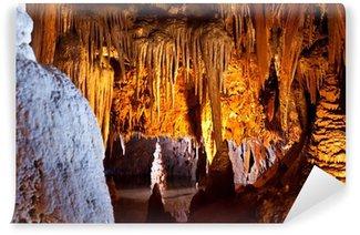 Vinylová Fototapeta Umělé osvětlení v přírodní jeskyni