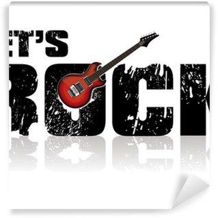 Vinylová Fototapeta Umožňuje rockovou pozadí s kytarou