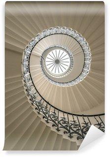 Fototapeta Winylowa Upside widzenia spiralne schody
