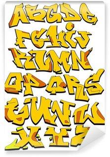 Vinylová Fototapeta Urban písma Graffiti Art Abeceda
