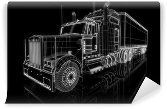 Vinylová Fototapeta US Truck - perspektivní 3D konstrukce