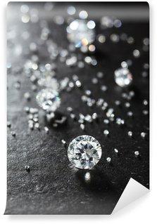 Vinylová Fototapeta Uvedení diamanty na povrchu kamene detailní.