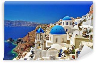 Vinylová Fototapeta Úžasné bílo-modrá Santorini