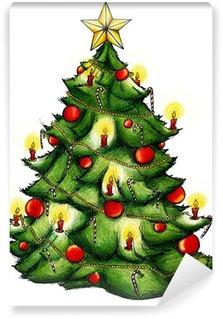 Vinylová Fototapeta Vánoční strom, vánoční strom, Vánoce, Štědrý den