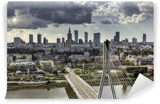 Vinylová Fototapeta Varšava panorama za mostem